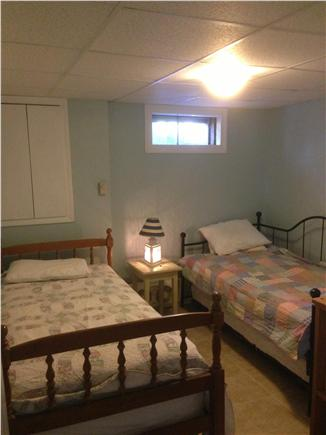 Falmouth Cape Cod vacation rental - Bedroom down stairs where beds can be re-arranged.