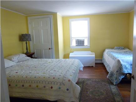 West Harwich Cape Cod vacation rental - Master has a queen bed, an extra small single size bed & cable TV