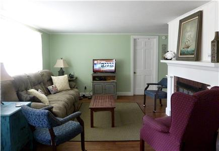 West Harwich Cape Cod vacation rental - Living room has flat screen TV.  All rooms off of living room.