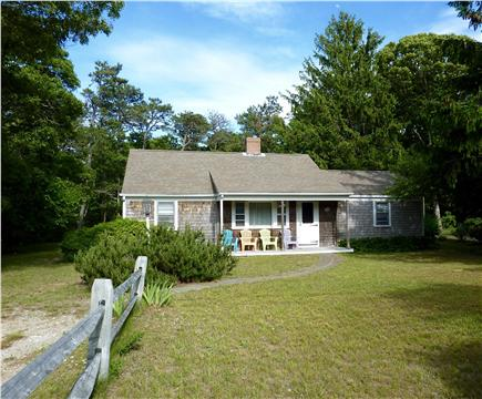 West Harwich Cape Cod vacation rental - The house is set back from the road with a large private backyard