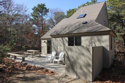 Eastham Cape Cod vacation rental - Back Of House Including Deck & Outdoor Shower