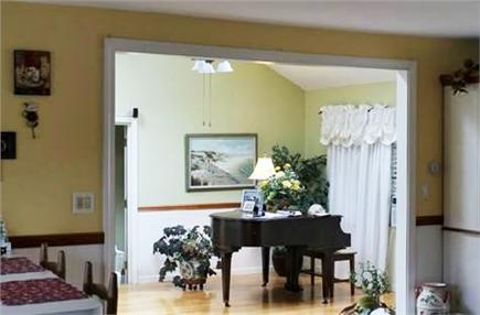 Harwich Cape Cod vacation rental - View from Kitchen to Living Room