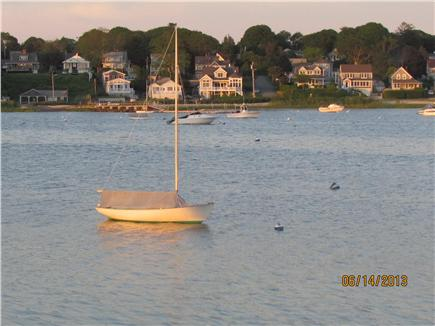Pocasset, Patuisset Pocasset vacation rental - Sunset light on a sailboat, from the kitchen window.