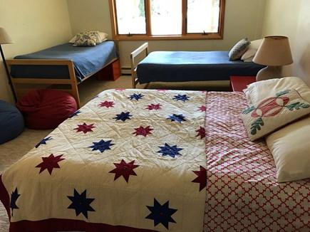 Wellfleet Cape Cod vacation rental - Lower level bedroom #7, queen bed & 2 twins