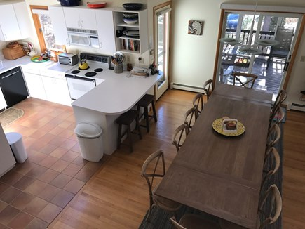 Wellfleet Cape Cod vacation rental - Fully stocked kitchen & dining table extended to seat 12