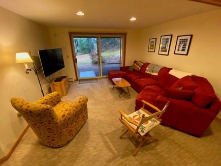 Wellfleet Cape Cod vacation rental - Lower level TV area , sliding doors to outdoors