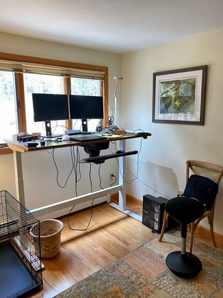 Wellfleet Cape Cod vacation rental - Office on main floor with automatic seated/standing desk