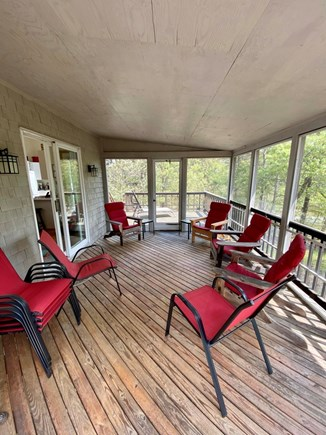 Wellfleet Cape Cod vacation rental - Screen porch & large deck on main floor