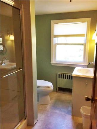Brewster Cape Cod vacation rental - Upstairs bathroom with walk in shower.