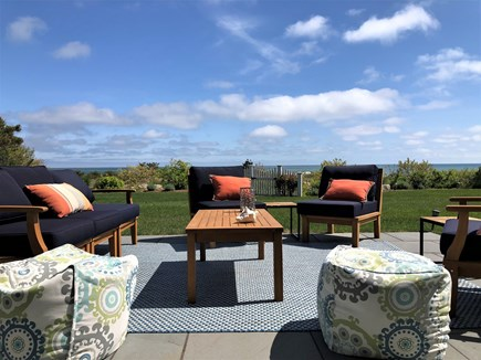 Harwich Port Cape Cod vacation rental - Lounge patio facing beach