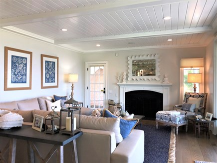 Harwich Port Cape Cod vacation rental - Open and bright Living room with sliders to the deck