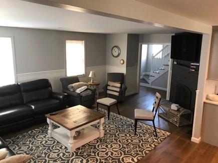 Dennis Cape Cod vacation rental - Living room, TV, fireplace