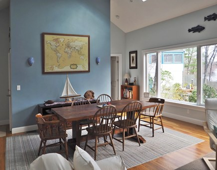 East Falmouth Cape Cod vacation rental - The dining table.