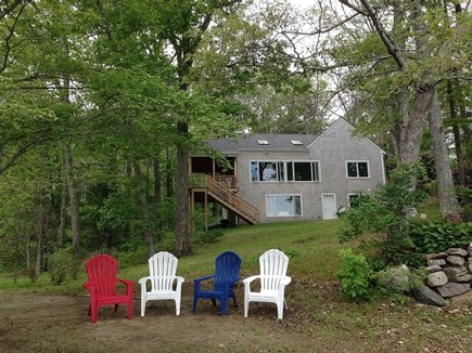East Falmouth Cape Cod vacation rental - The house from the beach.