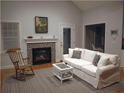 East Falmouth Cape Cod vacation rental - Living area with vaulted ceilings