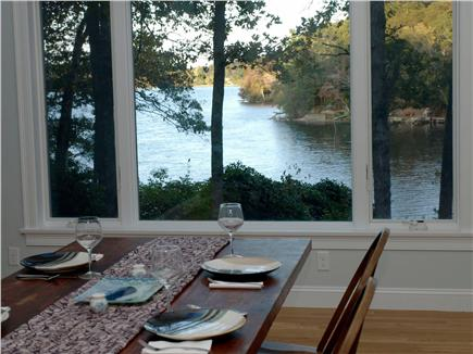 East Falmouth Cape Cod vacation rental - Dining area with pond views