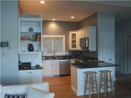East Falmouth Cape Cod vacation rental - Kitchen w/gas range, refrigerator, dishwasher, microwave.
