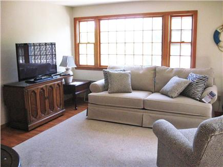 East Dennis Cape Cod vacation rental - Living room with deck