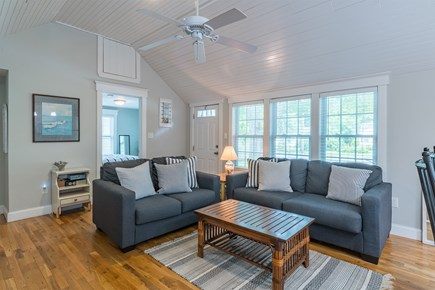 West Yarmouth Cape Cod vacation rental - Living Room w/ Fireplace