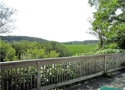 Wellfleet Cape Cod vacation rental - Deck offers spacious views over the marsh, teeming w/life