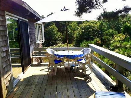 Truro Cape Cod vacation rental - Eat on our deck with a gorgeous view of sunsets over the Bay