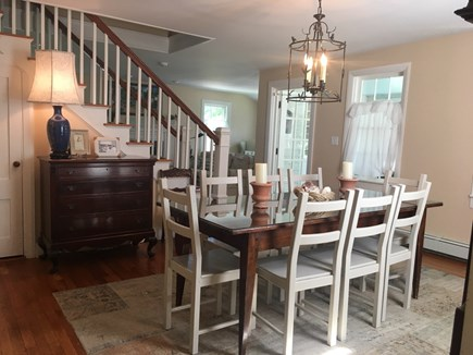 Cotuit Cotuit vacation rental - The antique dining table is also a great place for games.