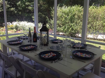 Cotuit Cotuit vacation rental - Enjoy bug-less outdoor dining on the back porch.