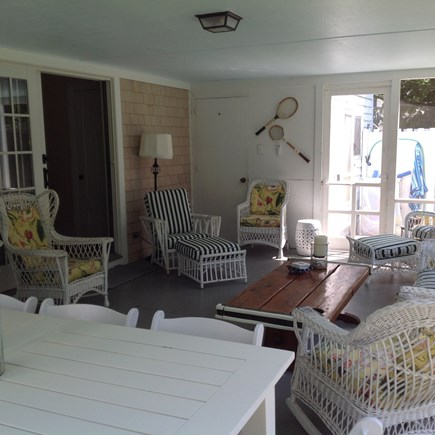 Cotuit Cotuit vacation rental - Put your feet up and relax in comfy antique Bar Harbour wicker.