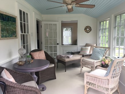 Cotuit Cotuit vacation rental - A perfect day begins with sunlight flooding the front porch.