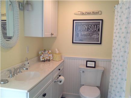 Cotuit Cotuit vacation rental - The downstairs bath (w tub/shower) is next to the back bedroom.