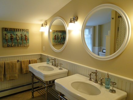 Cotuit Cotuit vacation rental - Upstairs bath, with double sinks, soaking tub and shower