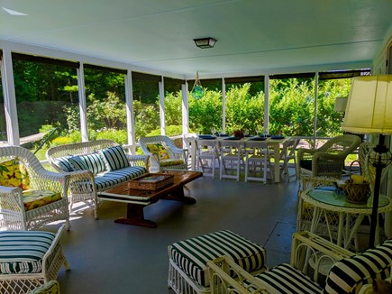 Cotuit Cotuit vacation rental - Sunny, screened back porch  is your summer living room!