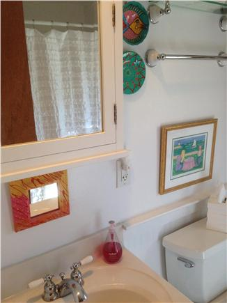 South yarmouth Cape Cod vacation rental - Other view of bathroom, tub not shown
