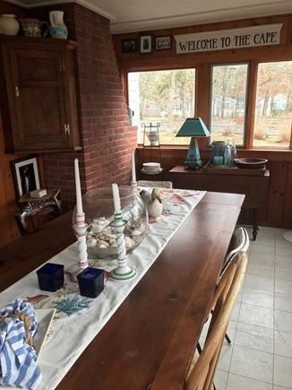 South Yarmouth Cape Cod vacation rental - Interior sun porch, large table for meals. buffet or games