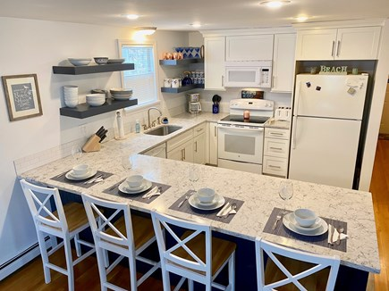 South Dennis Cape Cod vacation rental - Brand new top line quartz kitchen, fully stocked.