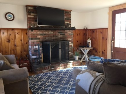 Chatham Cape Cod vacation rental - Living room with flatscreen tv.