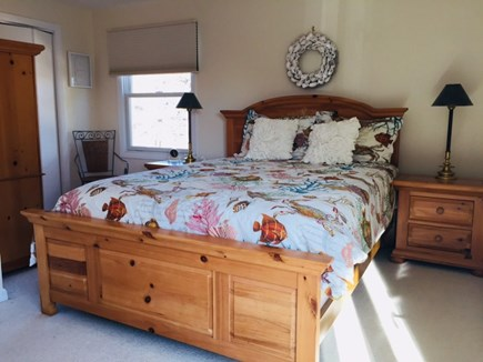 Chatham Cape Cod vacation rental - Master bedrooom with glass slider that leads to deck.