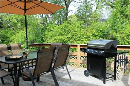 Brewster Cape Cod vacation rental - Deck off dining room complete with gas grill.