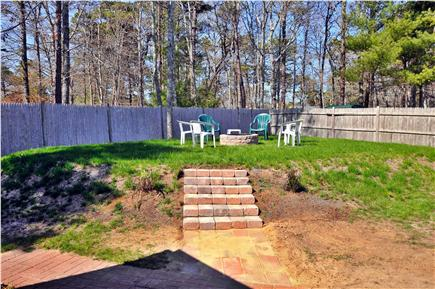 South Yarmouth Cape Cod vacation rental - Fire Pit in Back Yard