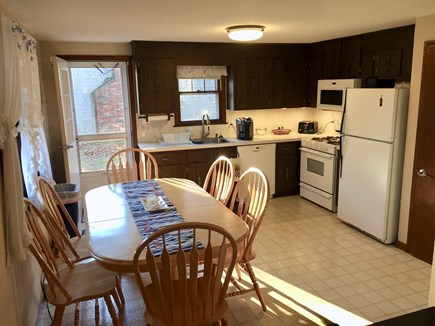 South Yarmouth Cape Cod vacation rental - Large eat in kitchen table expands to seat 8 comfortably