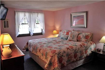 South Yarmouth Cape Cod vacation rental - Master Bedroom with king size bed and wall mounted flat screen TV