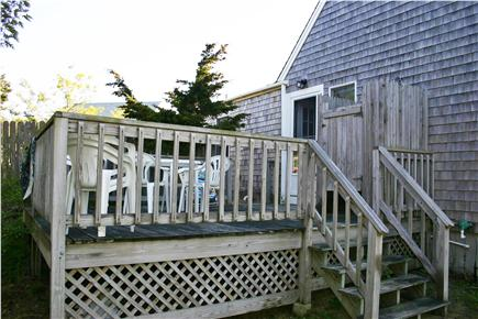 North Eastham Cape Cod vacation rental - Back deck has an outside shower!