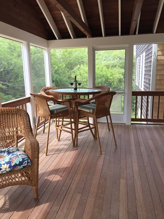 North Eastham Cape Cod vacation rental - Relax in a new covered screened porch