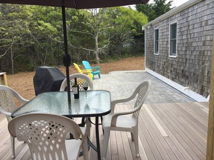 North Eastham Cape Cod vacation rental - New mahogany deck