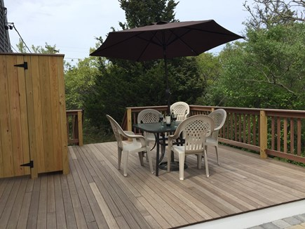 North Eastham Cape Cod vacation rental - New mahogany deck with expanded outdoor shower