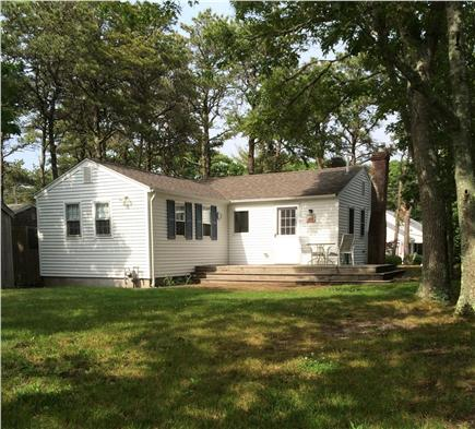 West Harwich Cape Cod vacation rental - Back deck and yard