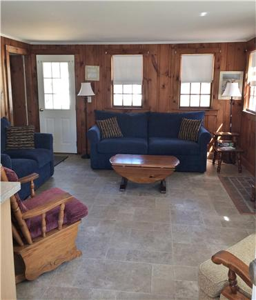 West Harwich Cape Cod vacation rental - Living room w/42'' flat screen TV over the fireplace