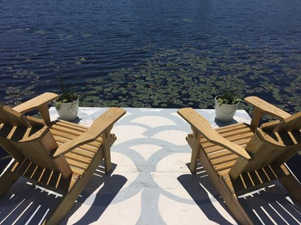 Eastham Cape Cod vacation rental - Private dock on the pond