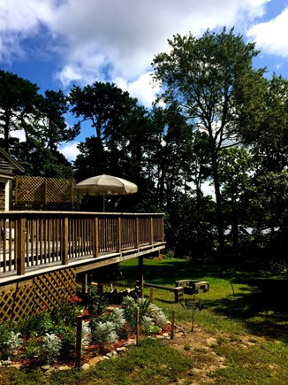 Eastham Cape Cod vacation rental - Wrap around deck with view of the pond