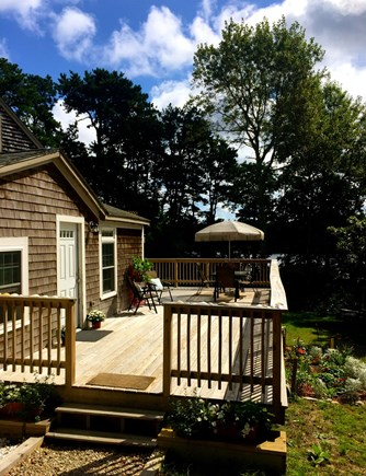 Eastham Cape Cod vacation rental - Entrance facing gardens with  Minister's Pond views